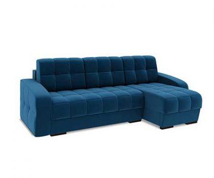 """Угловой диван """"Аспен"""" сочный синий. FRENT"""