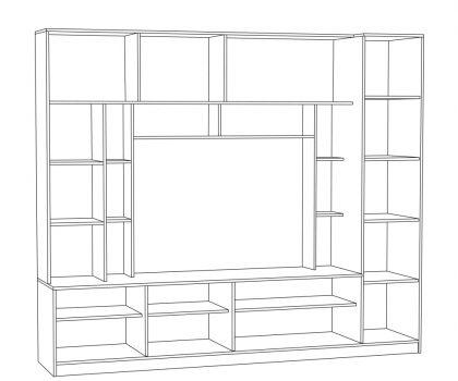 Шкаф комбинированный схема