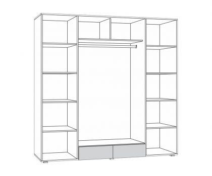 312 Шкаф 4х дверный схема