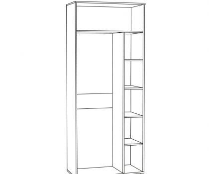 1751 Шкаф для одежды схема