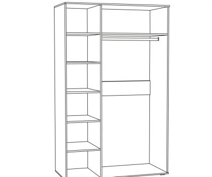 1782 Шкаф для одежды схема