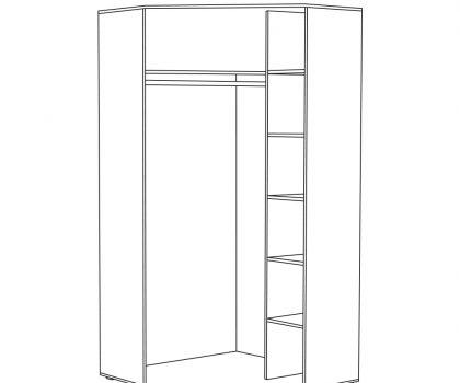 1792 Шкаф угловой схема