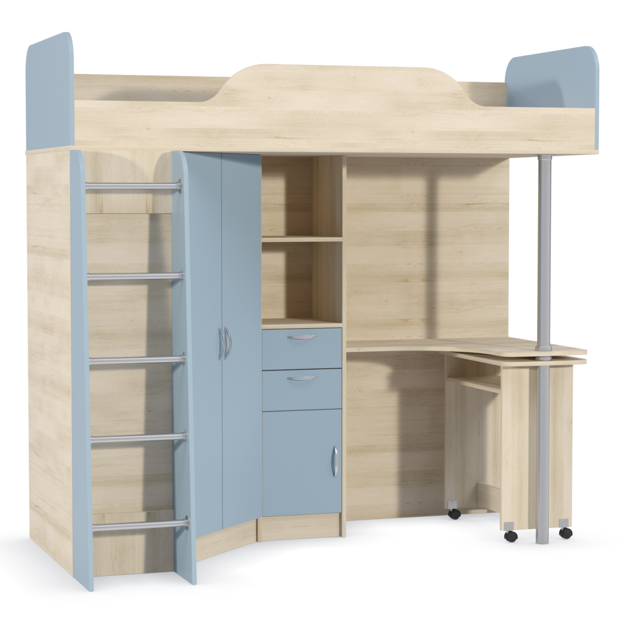 кровать 427 Капри Синий